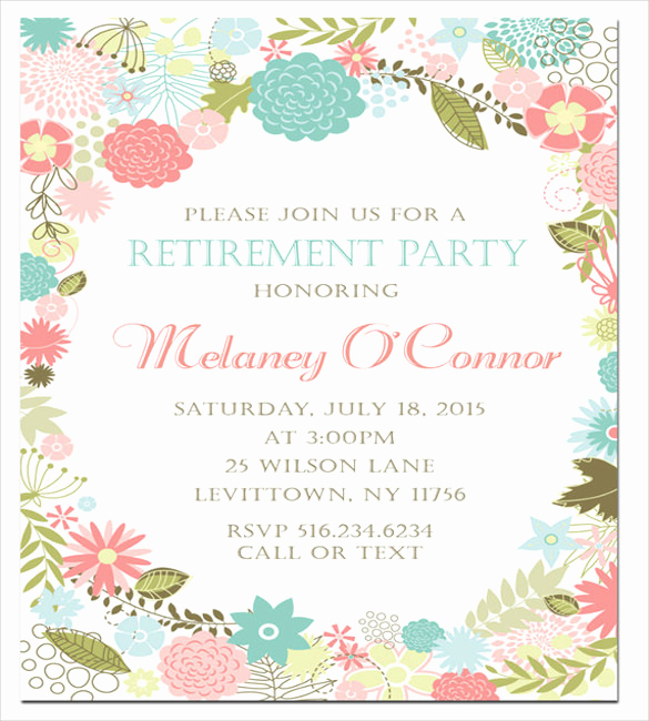 Retirement Party Invitation Templates Beautiful Retirement Party Invitation Template – 36 Free Psd format