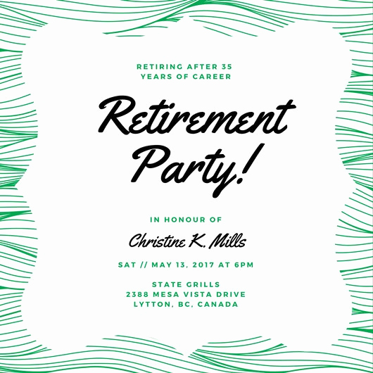 Retirement Party Invitation Templates Elegant Customize 3 999 Retirement Party Invitation Templates