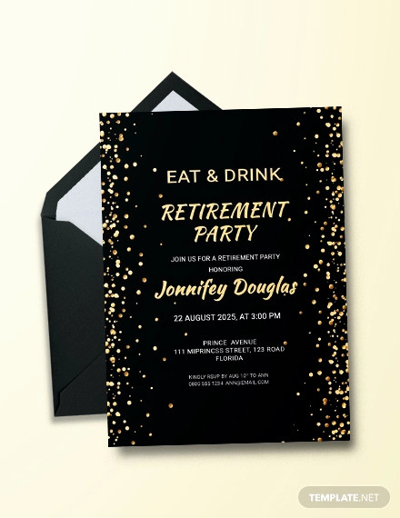 Retirement Party Invitation Templates Fresh 36 Retirement Party Invitation Templates Psd Ai Word