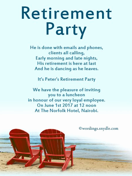 Retirement Party Invitation Templates Inspirational Retirement Party Invitation Wording Ideas and Samples