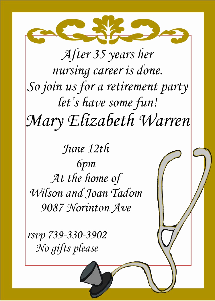 Retirement Party Invitation Templates Lovely Retirement Party Invitations Custom Designed New for