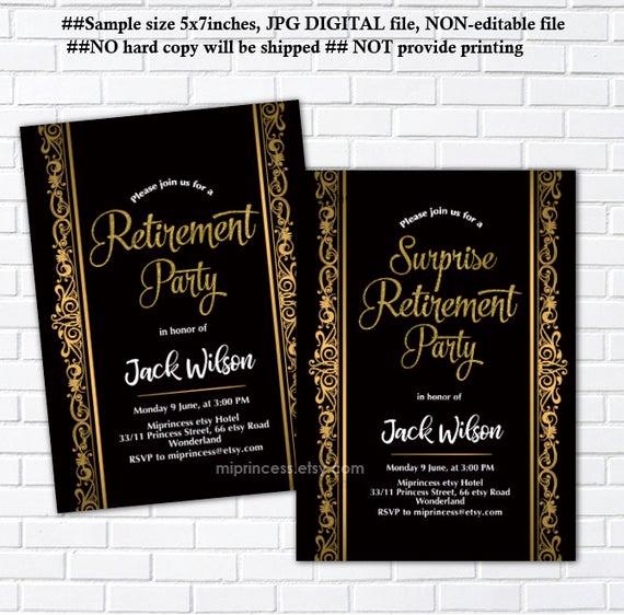 Retirement Party Invitation Wording Elegant Retirement Party Invitation Surprise Retirement Party