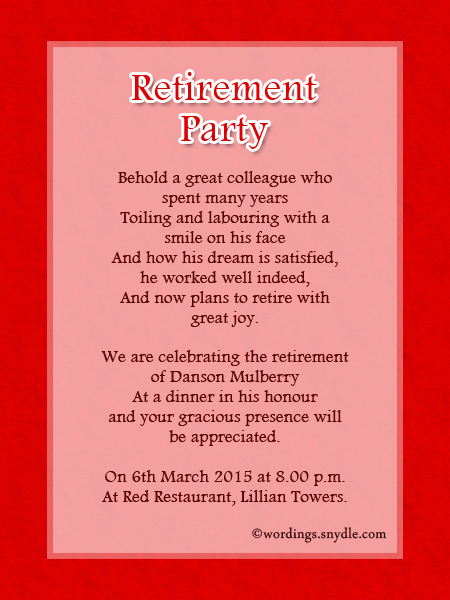 Retirement Party Invitation Wording Funny Awesome Retirement Party Invitation Wording Ideas and Samples