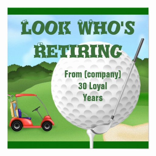 "Retirement Party Invitation Wording Funny Elegant Funny Golf Retirement Invitations Template 5 25"" Square"