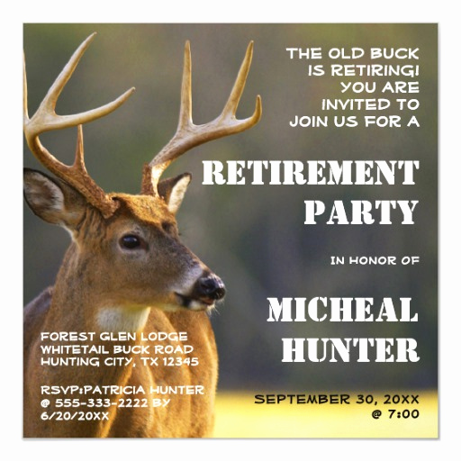 Retirement Party Invitation Wording Funny Elegant Funny Hunter Hunting Retirement Party Celebration Magnetic