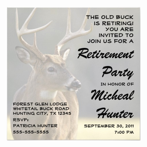 Retirement Party Invitation Wording Funny Elegant Funny Hunter Retirement Party Celebration 5 25x5 25 Square