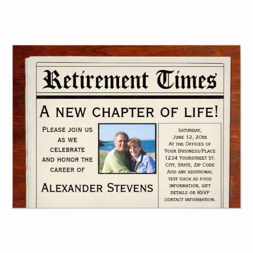 Retirement Party Invitation Wording Funny Inspirational Retirement Party Fun Newspaper Invitation