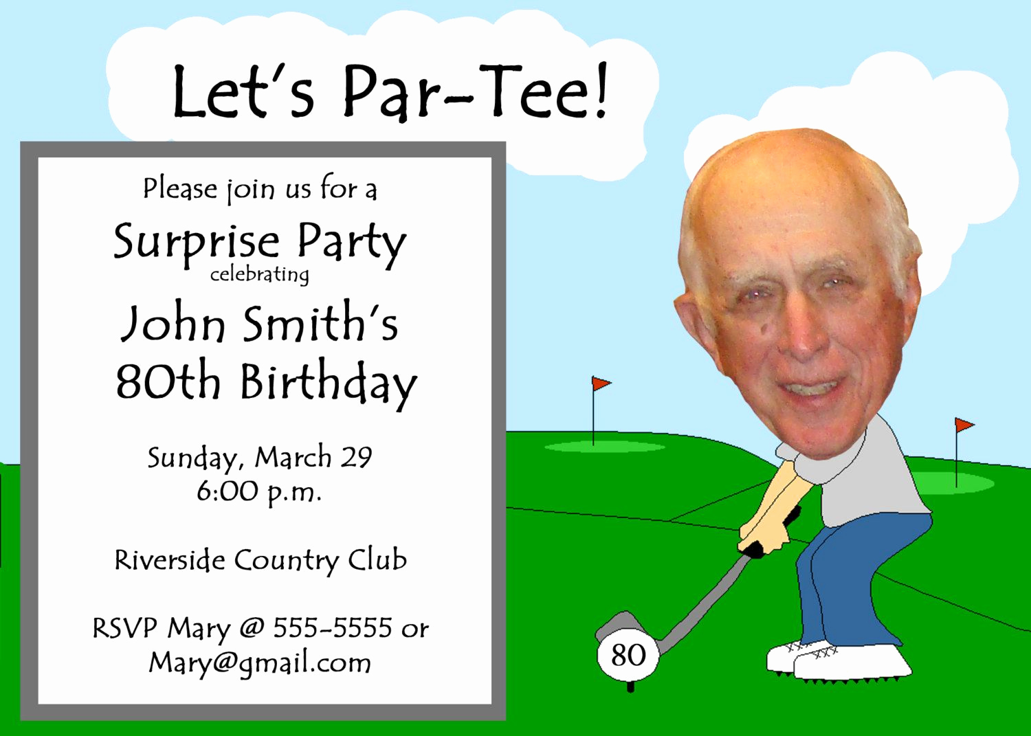 Retirement Party Invitation Wording Funny New Golf themed Funny Unique Retirement Invitation or 30th