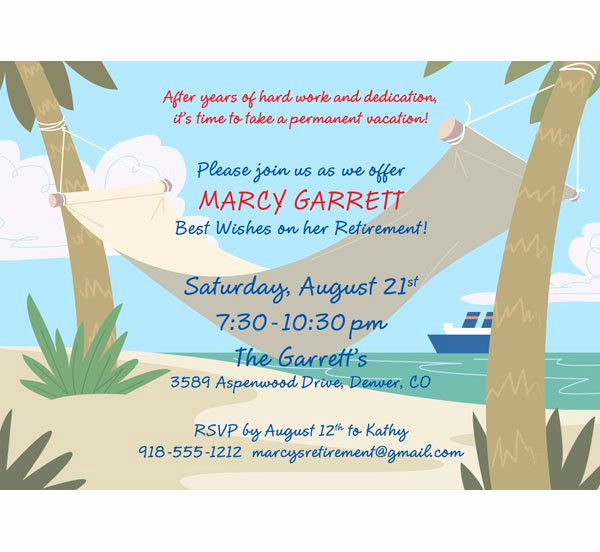 Retirement Party Invitation Wording New Printable Retirement Party Invitations Free