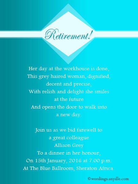 Retirement Party Invitation Wording Unique Retirement Party Invitation Wording Ideas and Samples