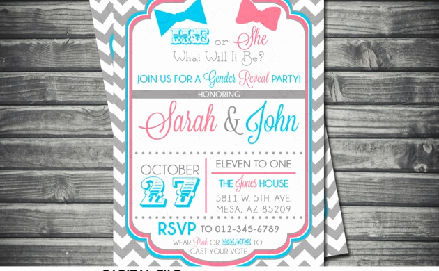 Reveal Party Invitation Ideas Awesome Gender Reveal Party New Kids Center