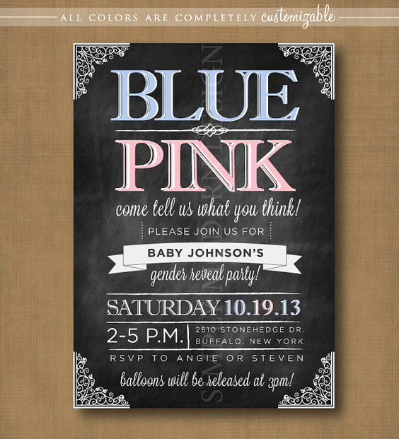 Reveal Party Invitation Ideas Lovely Chalkboard Gender Reveal Party Invitation Printable