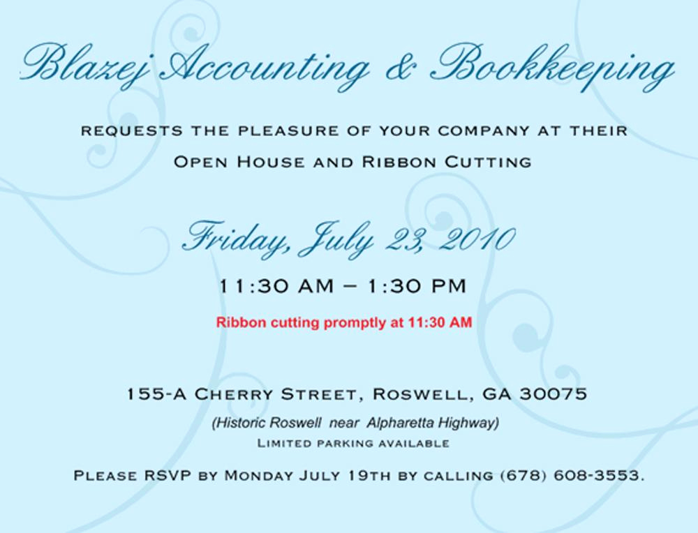 Ribbon Cutting Invitation Templates Awesome Business Grand Opening Invitations Wording