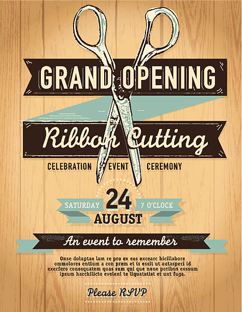 Ribbon Cutting Invitation Templates Elegant Royalty Free Ribbon Cutting Clip Art Vector