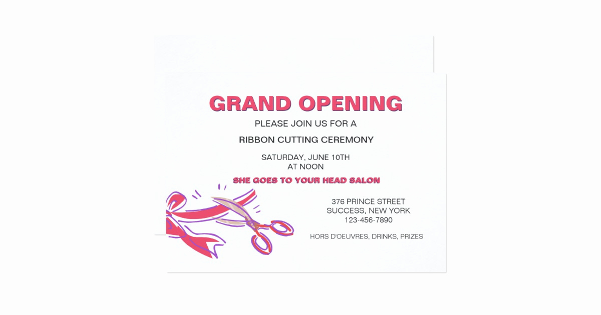 Ribbon Cutting Invitation Templates Fresh Ribbon Cutting Ceremony Invitation