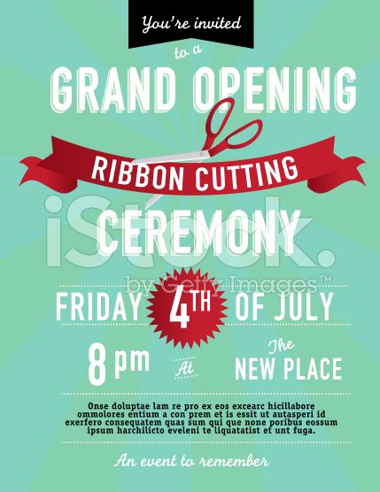 Ribbon Cutting Invitation Templates Inspirational 25 Best Ideas About Grand Opening On Pinterest