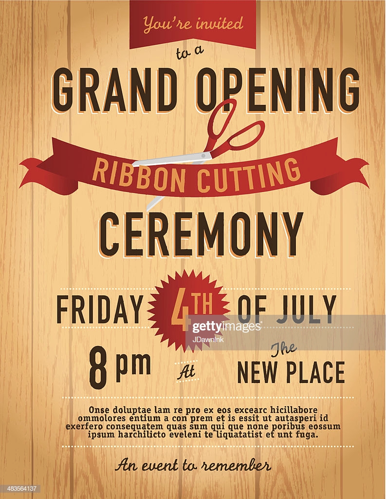 Ribbon Cutting Invitation Templates Inspirational Ribbon Cutting Invitation Design Template Wood