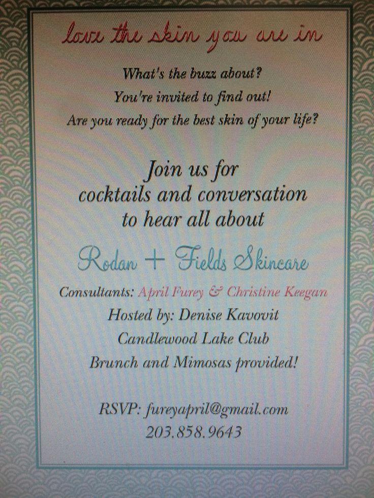 Rodan and Fields Bbl Invitation Elegant 109 Best R F Invitations Bbl Images On Pinterest