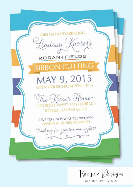 Rodan and Fields Bbl Invitation Lovely Rodan and Fields Big Business Launch Party Invitations