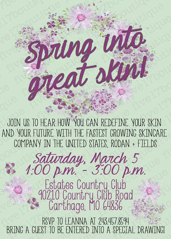 Rodan and Fields event Invitation Awesome 111 Best Images About R F Invitations Bbl On Pinterest