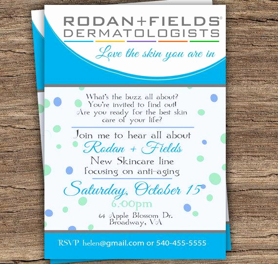 Rodan and Fields event Invitation Beautiful Unavailable Listing On Etsy