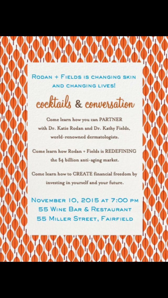 Rodan and Fields event Invitation Best Of Pin by April Furey On R F Invitations Bbl