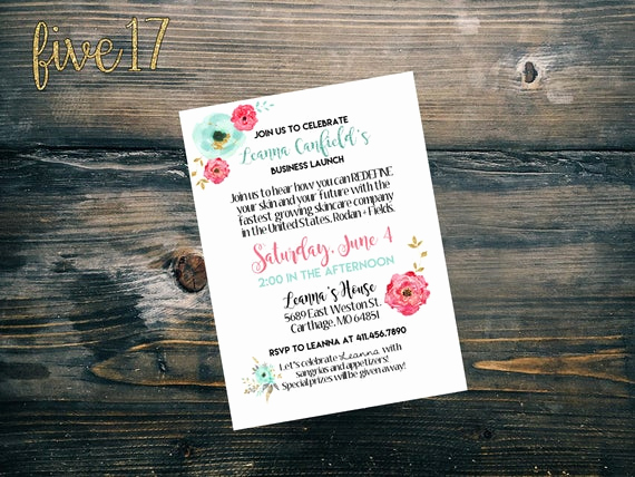 Rodan and Fields event Invitation Best Of Rodan and Fields Invitation Big Business Launch Floral