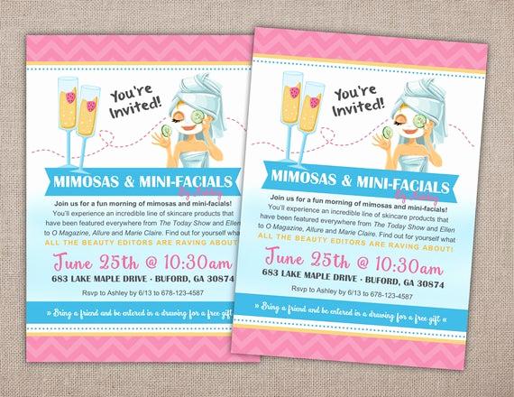 Rodan and Fields event Invitation Elegant Spa Party Invitation Printable Rodan and Fields Spa