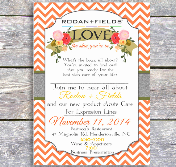 Rodan and Fields event Invitation Luxury Items Similar to Rodan and Fields Party Thanksgiving