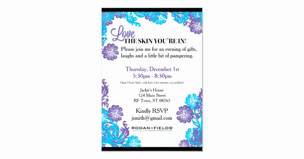 Rodan and Fields event Invitation Luxury Rodan Fields Invitation Template