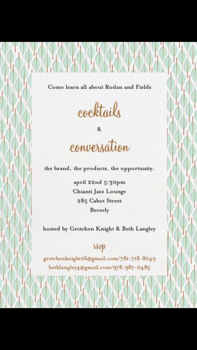 Rodan and Fields event Invitation New 111 Best Images About R F Invitations Bbl On Pinterest