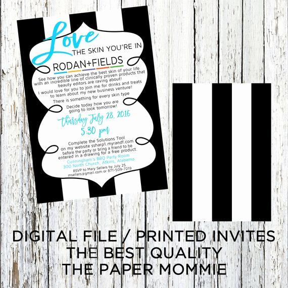 Rodan and Fields event Invitation Unique Rodan Fields New Business Invitation