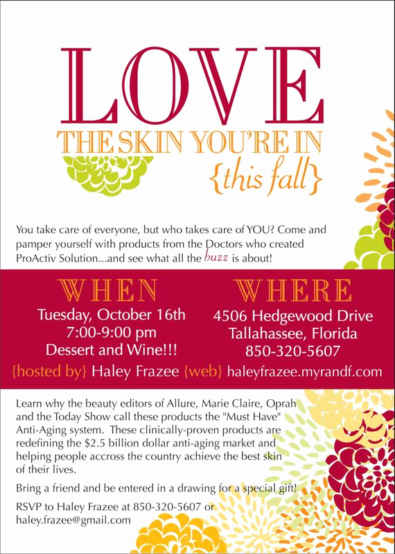Rodan and Fields Invitation Templates Best Of Love the Skin You Re In Invitation Diy or by Lauraleidesign