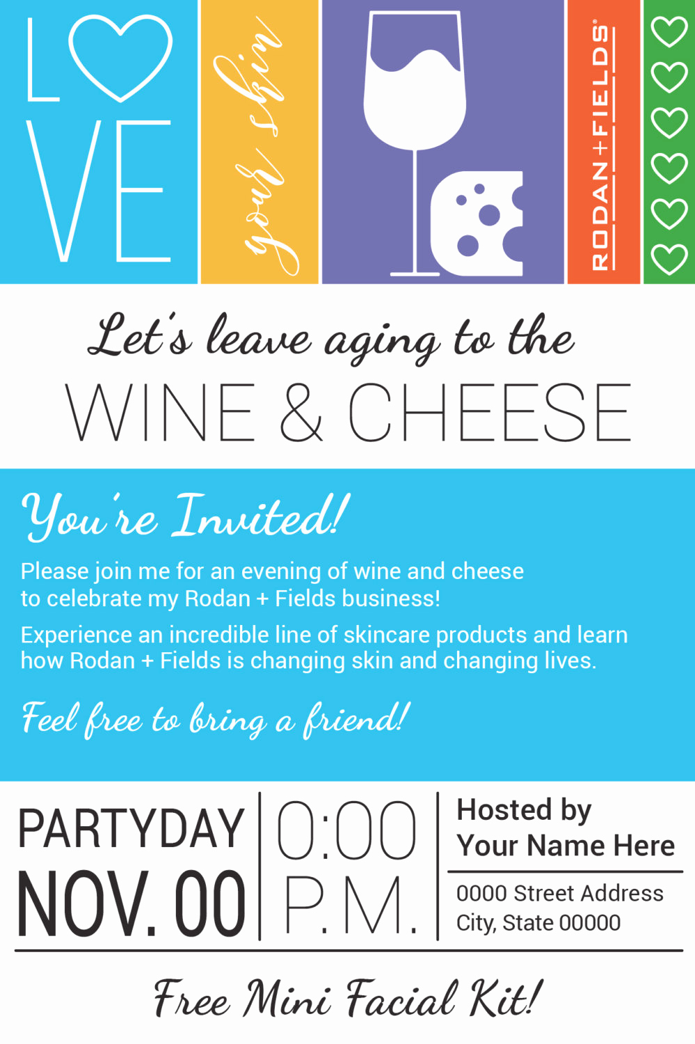 Rodan and Fields Invitation Templates Fresh Rodan and Fields Big Biz Launch Wine & Cheese Party Evite
