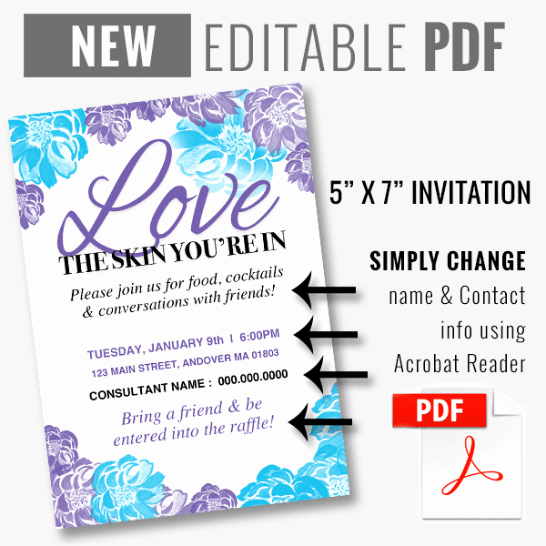 Rodan and Fields Invitation Templates Inspirational Editable Pdf Rodan Fields Invitation Template Instant