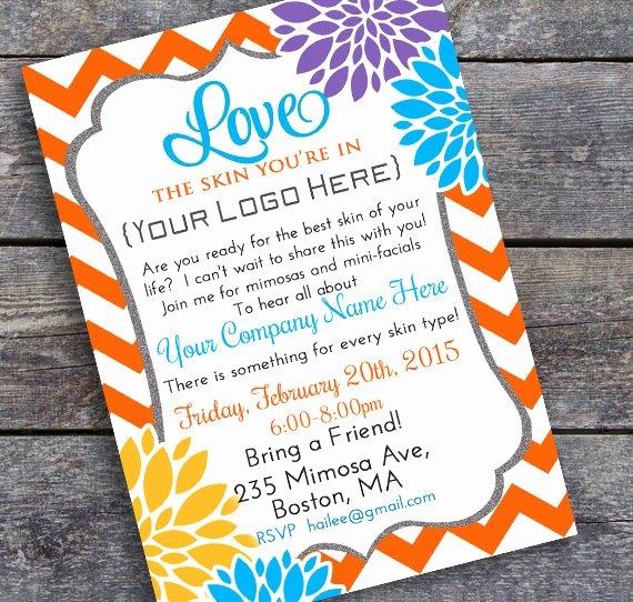 Rodan and Fields Invitation Templates New Business Party Invitation Diy Printable Summer Colors