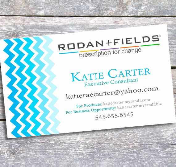 Rodan and Fields Invitation Templates Unique Rodan and Fields Business Card Printable Digital by