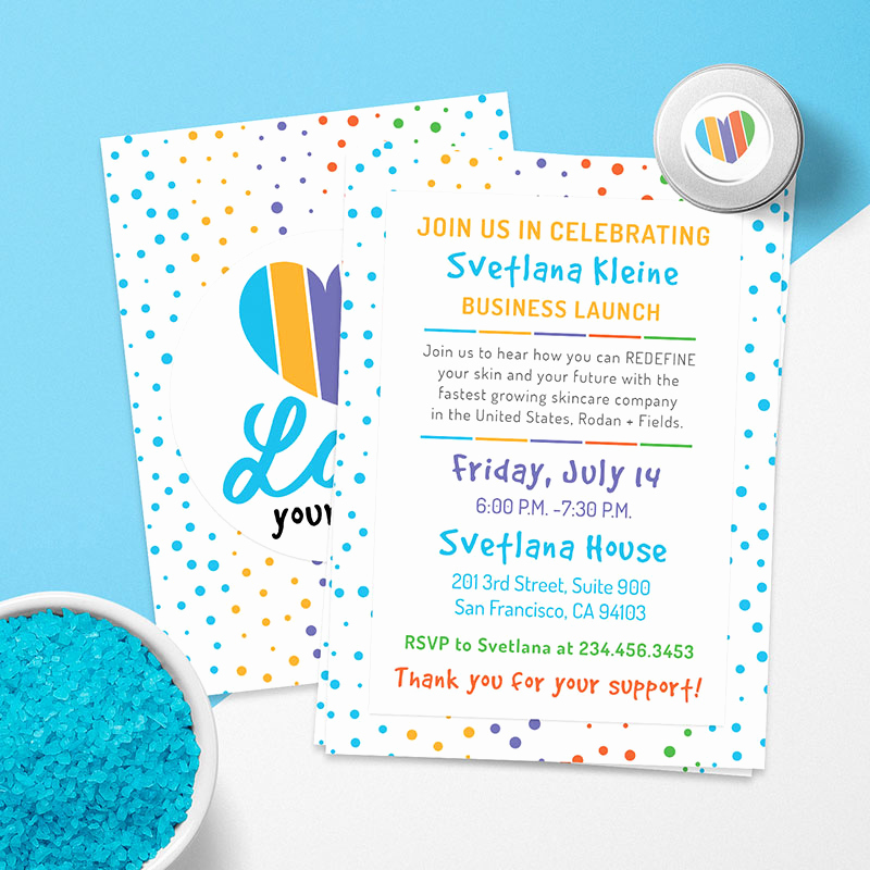 Rodan and Fields Invitation Templates Unique Rodan and Fields Business Launch Card Cutergb