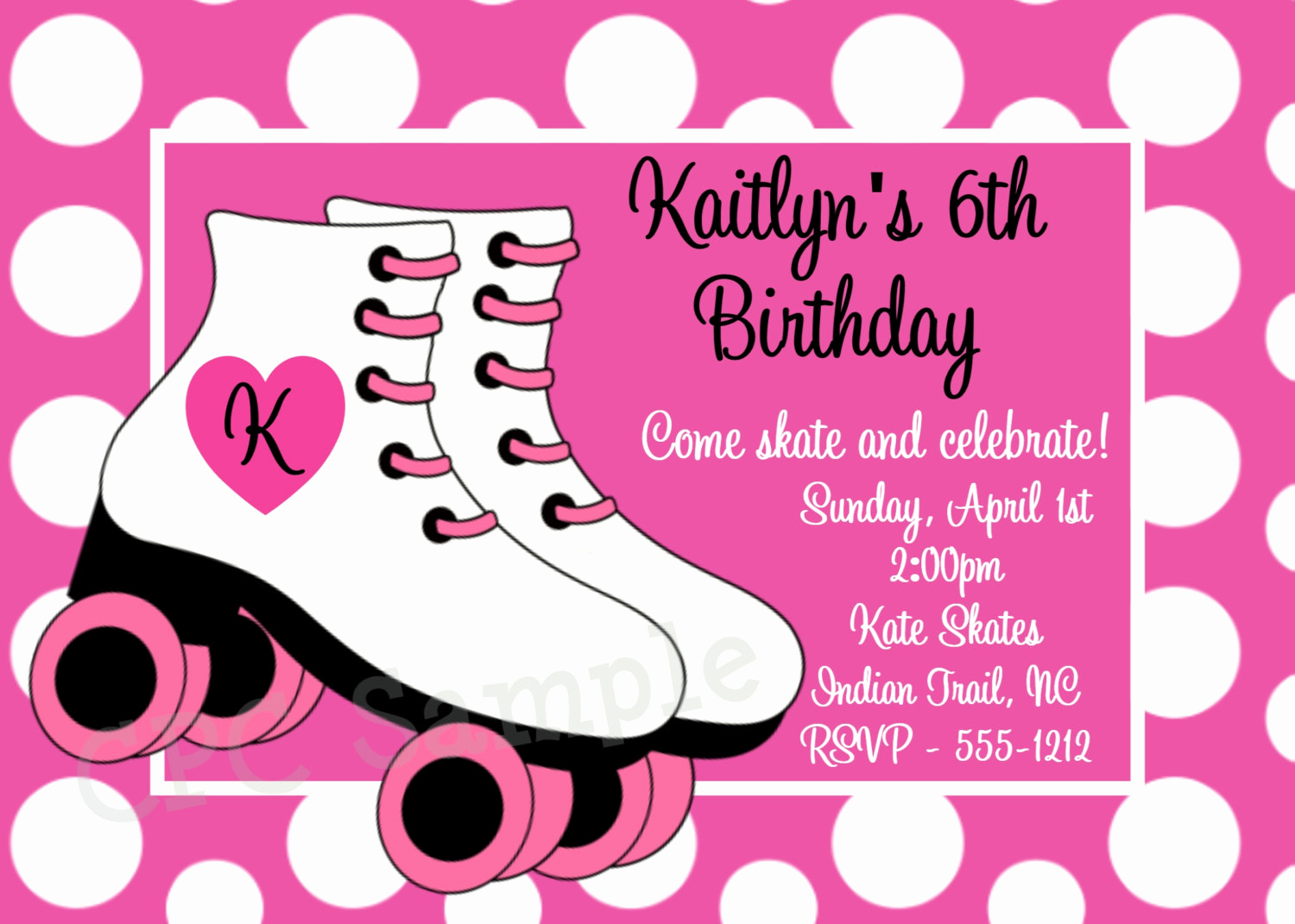 Roller Skate Invitation Template Best Of Free Printable Roller Skating Birthday Party Invitations
