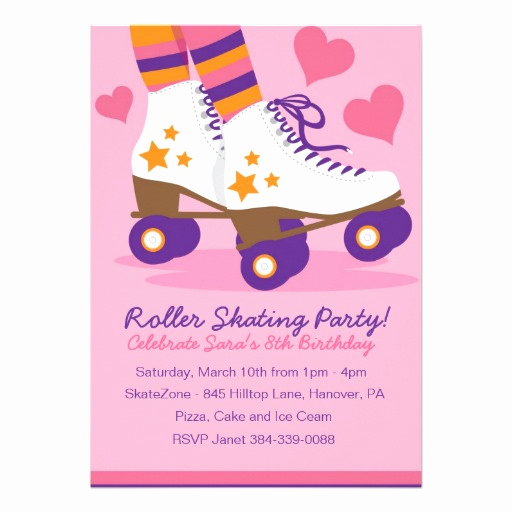 Roller Skate Invitation Template Elegant Free Printable Roller Skate Birthday Party Invitations