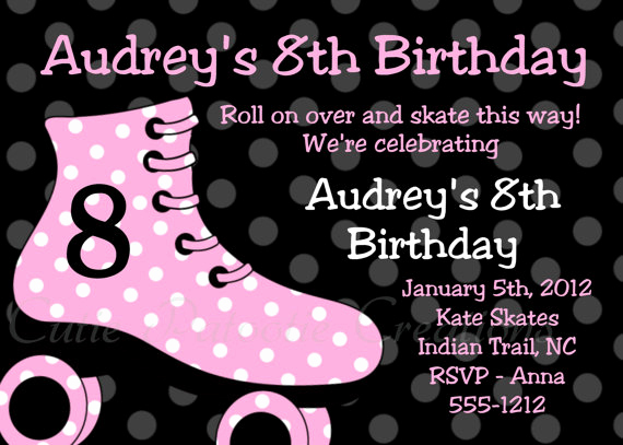 Roller Skate Invitation Template Elegant Free Roller Skating Birthday Party Invitations Ideas
