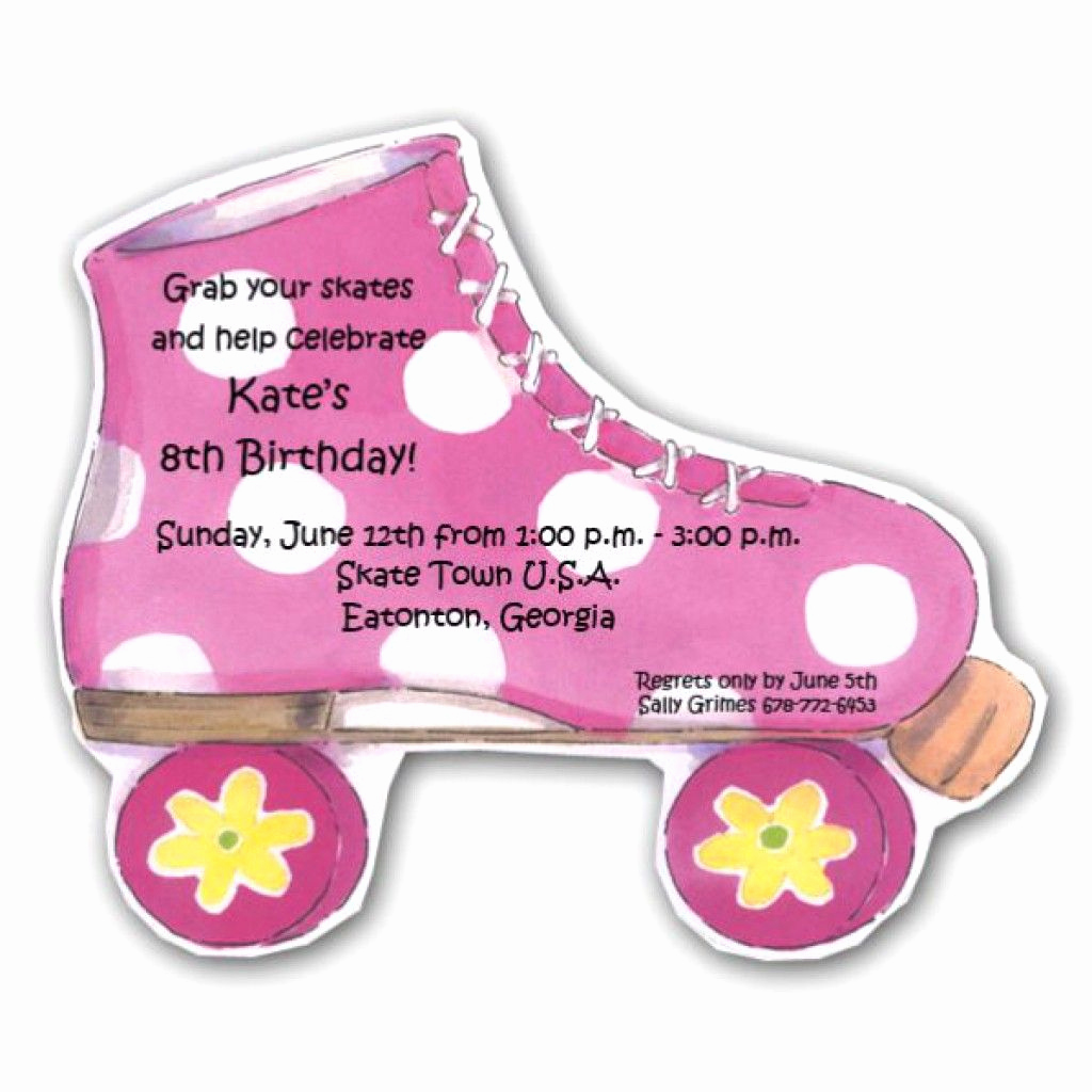 Roller Skate Invitation Template Fresh 7 Best Free Printable Roller Skate Template