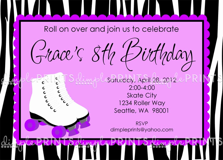 Roller Skate Invitation Template Inspirational Free Printable Roller Skating Party Invitation