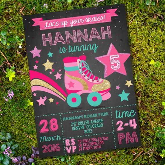 Roller Skate Invitation Template Inspirational Rollerskating Party Invitation Rollerskate Retro