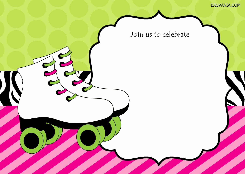 Roller Skate Invitation Template Lovely Free Free Printable Ice Skating Birthday Invitations