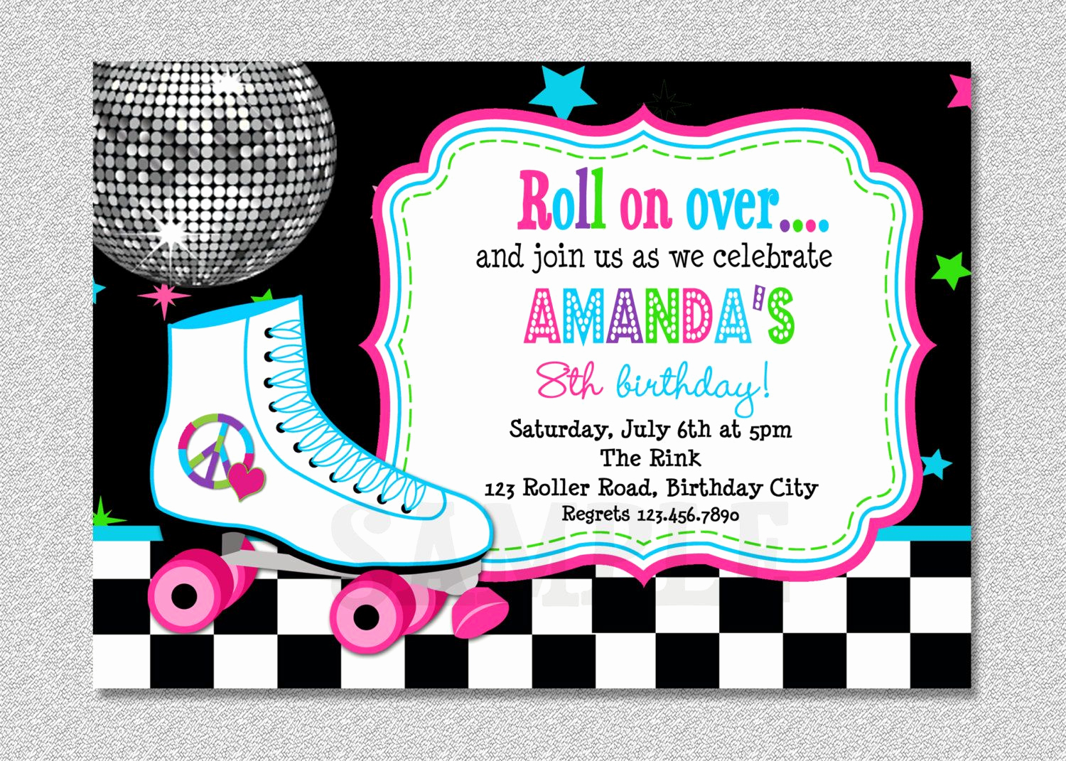 Roller Skate Invitation Template Luxury Download Free Template Free Printable Roller Skating