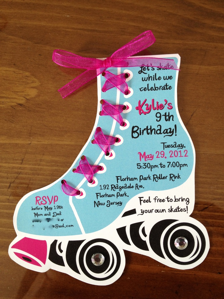 Roller Skate Invitation Template Luxury Roller Skate Birthday Invites by Lilli Design L L C New