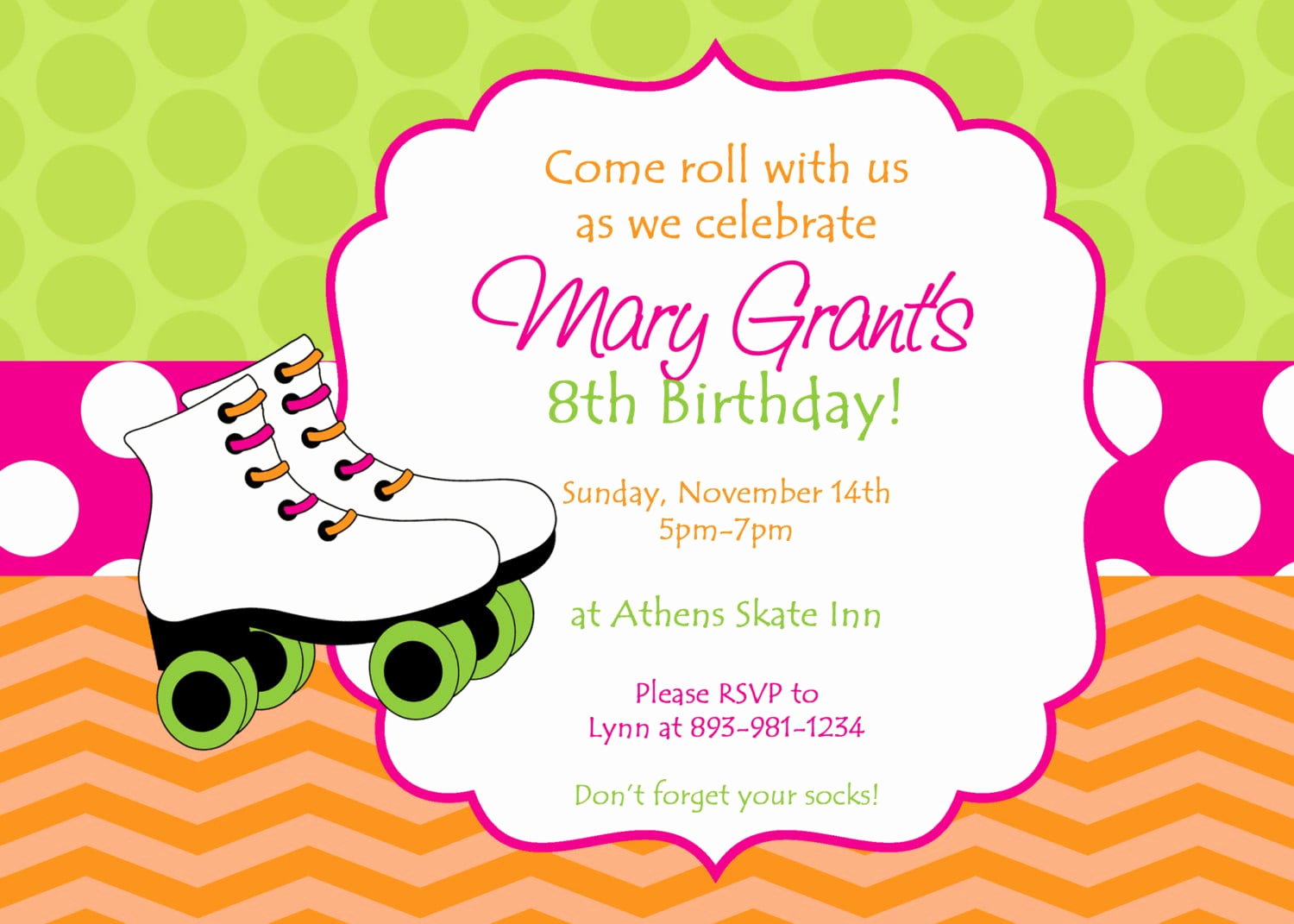 Roller Skate Invitation Template Luxury Roller Skating Invitation Ffree