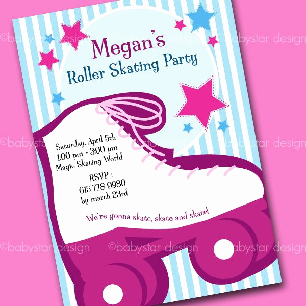Roller Skate Invitation Template New Roll Skating Pictures for Birthdays
