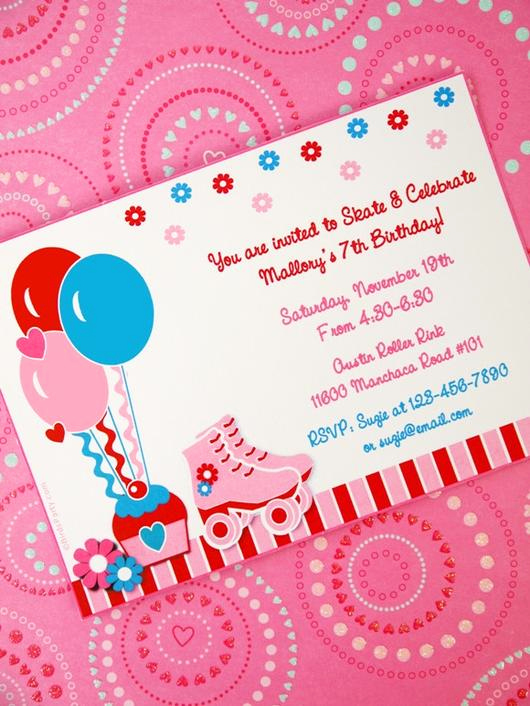 Roller Skate Invitation Template Unique Roller Skates Birthday Party Printables Invitations